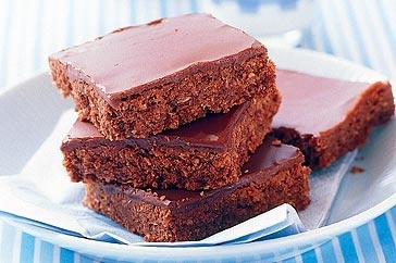 Chocolate Weetbix Slice- just made this for lunchbox treats. Yummy! Base seems crumbly before baking but remember to roll really firmly into tray & don't remove from tray til cooled