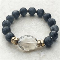 Black Marble Beaded Bracelet – Avabelle