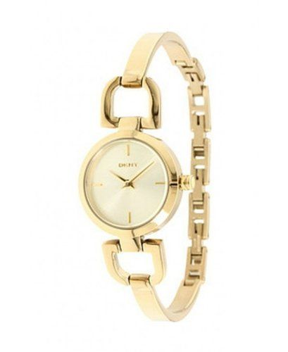 DKNY Round Steel Half-Bangle Women's watch #NY8543 DKNY. $114.00. Gold-tone Stainless Steel Bracelet. Gold tone Dial with Tonal Stick Indices and Two Hands