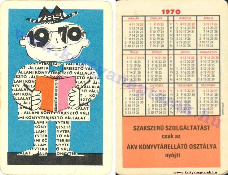 1970 - 1970_0443 - Régi magyar kártyanaptárak