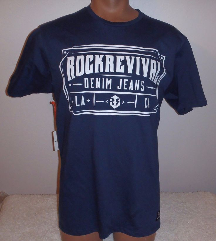 Rock Revival Denim Jeans Men's T-Shirt Shirt is new with tags Shirts size is a mens M. FREE SHIPPING Track Page Views With Auctiva's FREE Counter #shirt #size #mens #jeans #revival #denim #rock