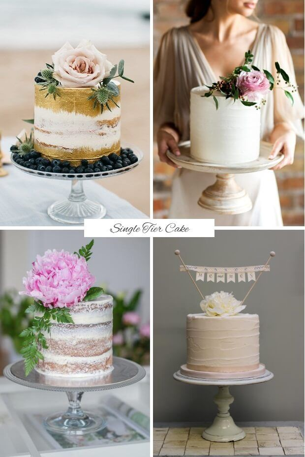 Find out what delicious dessert trends we'll be sinking our teeth into this year with today's guide to the top wedding cake trends for 2017! Single tier cakes.