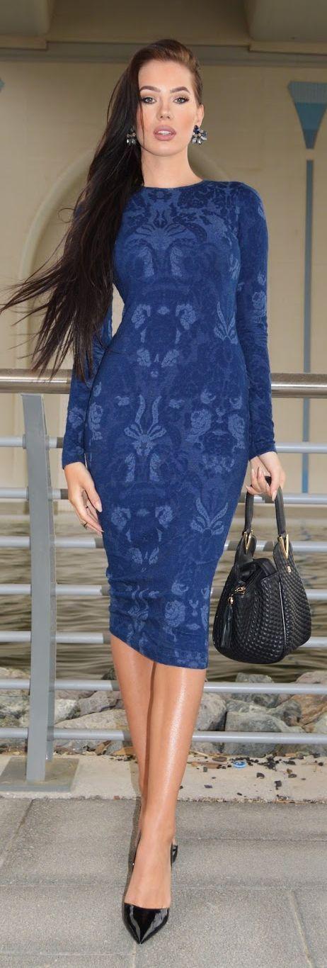 Blue Attraction Dress Streetstyle by Laura Badura Fashion