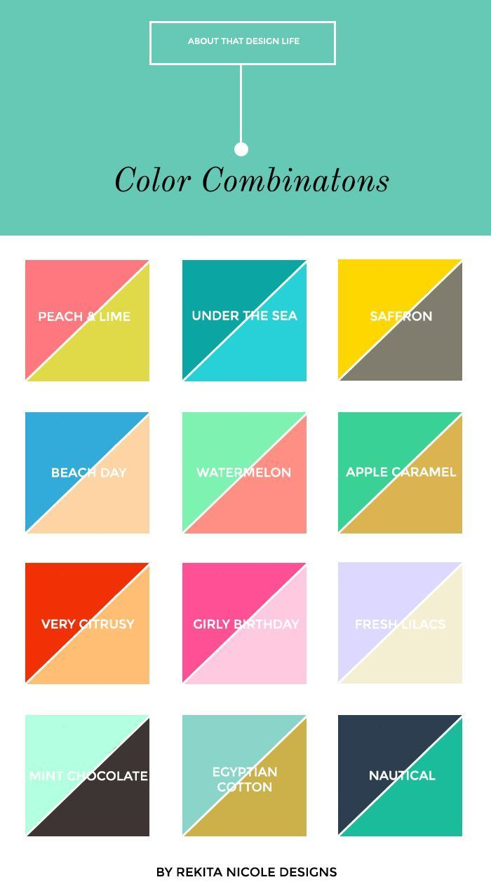 Beautiful color combinations for small business logos and websites. LOVE the pink and green! M :: 2 Color Combinations — Rekita Nicole