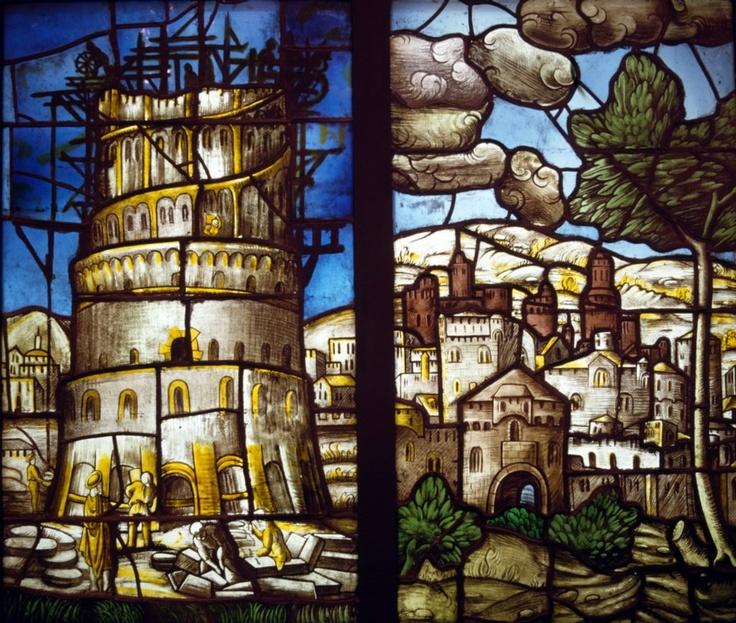 Arcimboldo Giuseppe - Torre di Babele e città di Betulia, 1549-1555. Museo del Duomo, Milano.