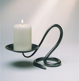 Image detail for -Candlestick: Single Round - Belltrees Forge Candlesticks & Holders