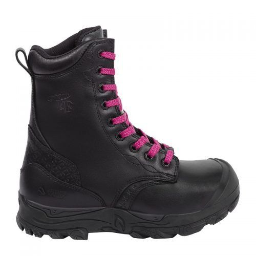 Women's steel toe work boots. Black colour. CSA approved.