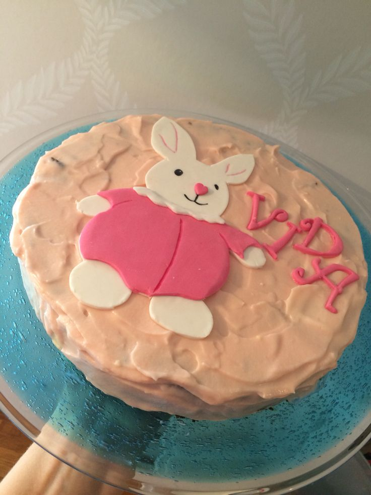 Frøken kaninkake barnekake rabbitcake birthdaycake