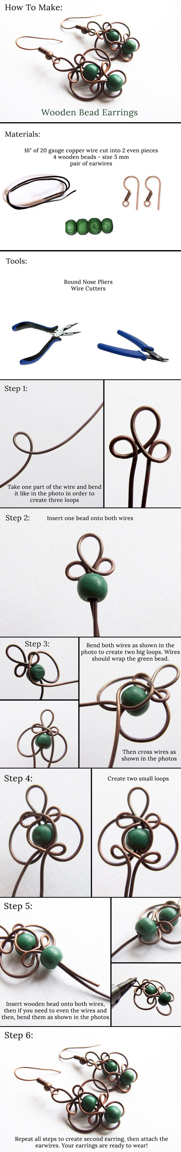 How To Make Wooden Bead Earrings!!!