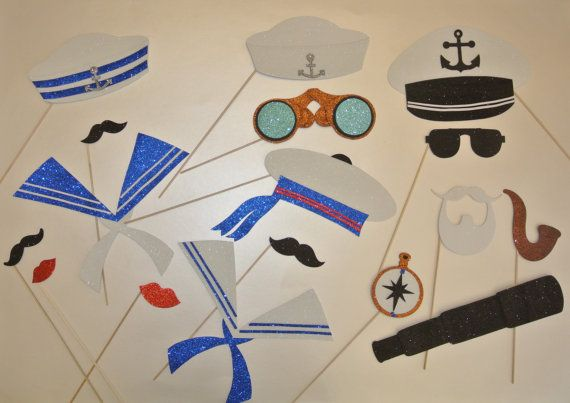 Sailor    Photo Booth Prop centerpiece table decoration by PICWRAP