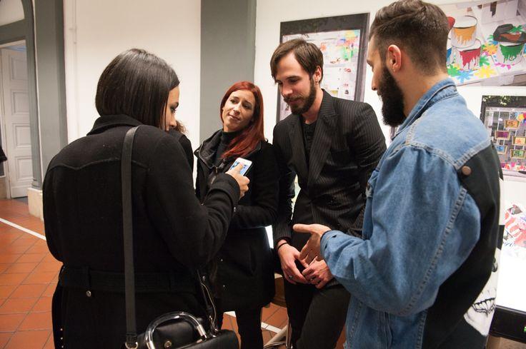 Models Tommaso Cataldi and Andrea Carocci with Students of Accademia Costume & Moda #model #malemodel #accademiacostumeemoda