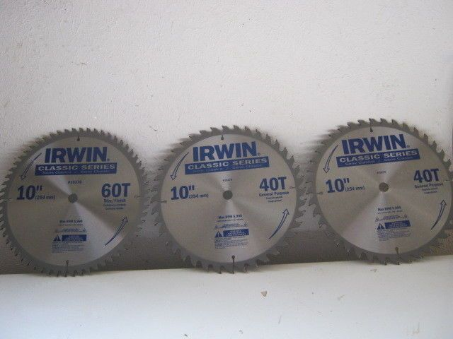 Saw Blades 122837 3 New Irwin 10 Carbide Saw Blades Buy It Now Only 35 On Ebay Blades Irwin Carbide Saw Blades 10 Things Jig Saw Blades