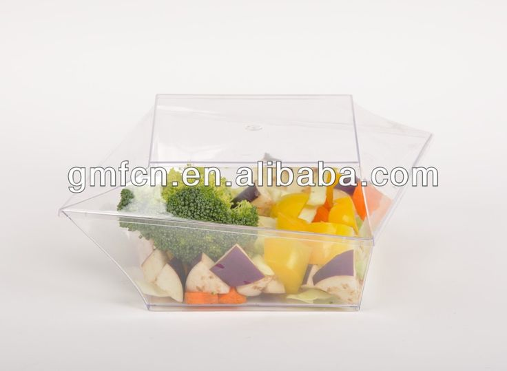 Hot selling catering food party wedding pudding plastic disposable food sushi packaging box $0.05~$0.2