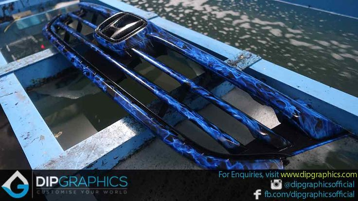 Hydro-Dipped-Honda-Stream-Front-Grill-in-Blue-Flames-2