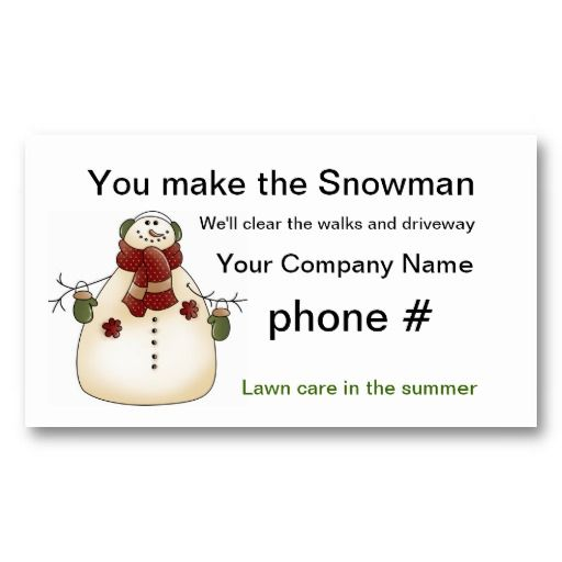 22 best snow removal business cards images on pinterest business snow removal business cards colourmoves