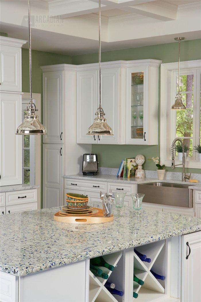 Single Pendant Lighting Over Kitchen Island: Emery Transitional Mini Pendant Light