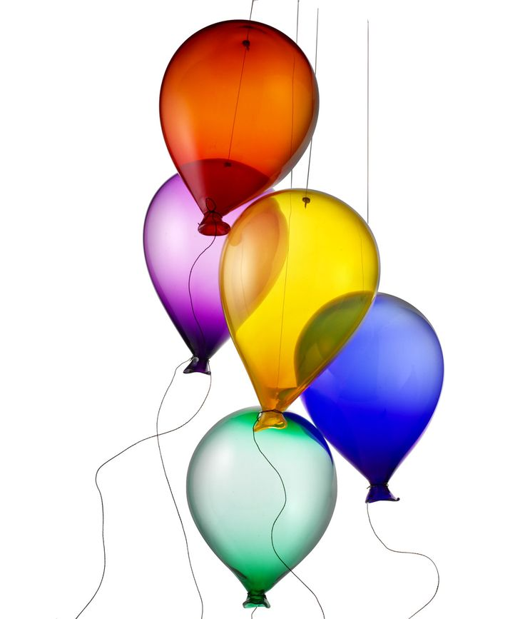 Glass Balloons by Robert Kuster: Hand blown in jewel tones. $220 per balloon. #Glass_Balloons #Robert_Kuster