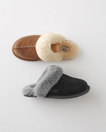 The classic UGG slips on with a slimmer silhouette — same warmth, less bulk. A seam straight down the center adds detail and definition, and a rubber sole is apropos for padding around the kitchen or down the driveway.