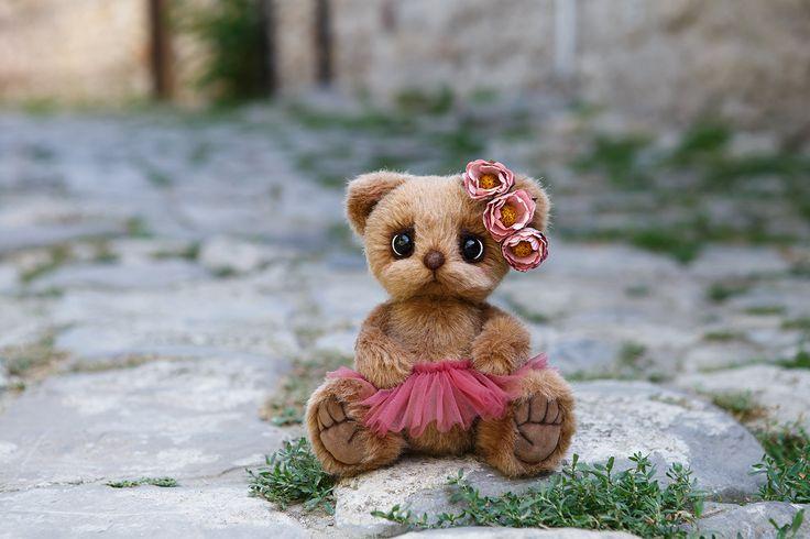 Artist collectible Teddy bear Asol (OOAK) by TEDDYROOM on Etsy