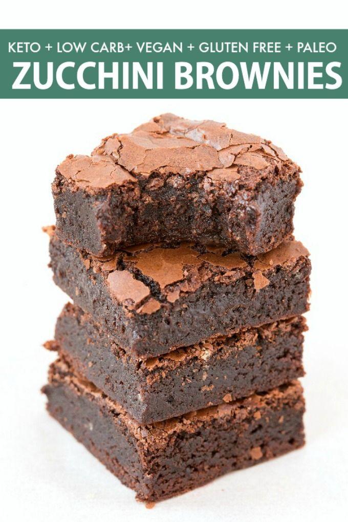 Keto Vegan Zucchini Fudge Brownies That Are Fudgy Gooey And