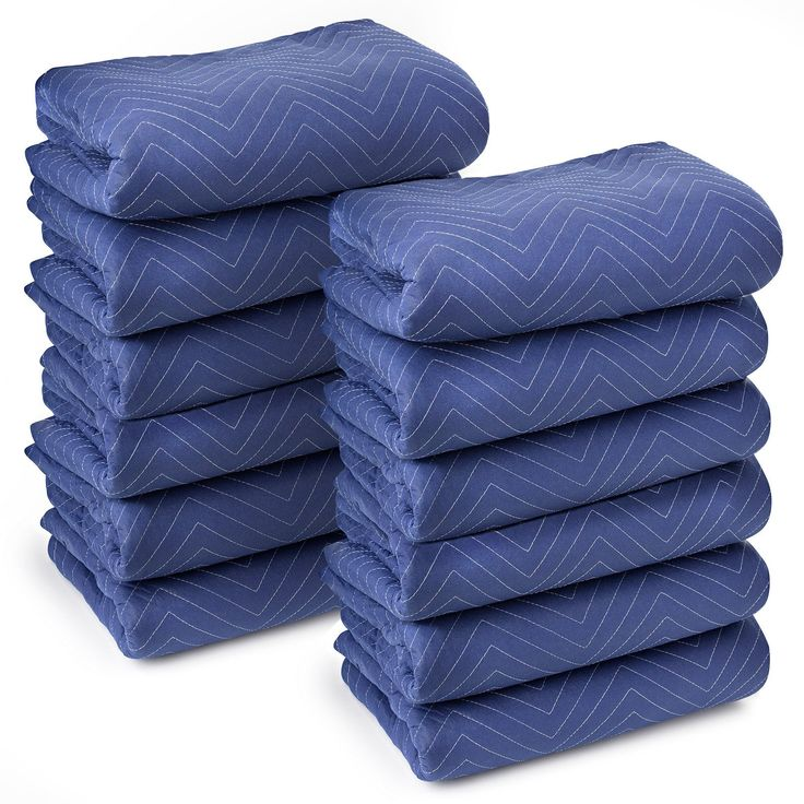 """Deluxe Pro Moving Blankets Padded Furniture Pads 12 pk 72"""" x 80"""" 40-45 lbs/Dozen"""