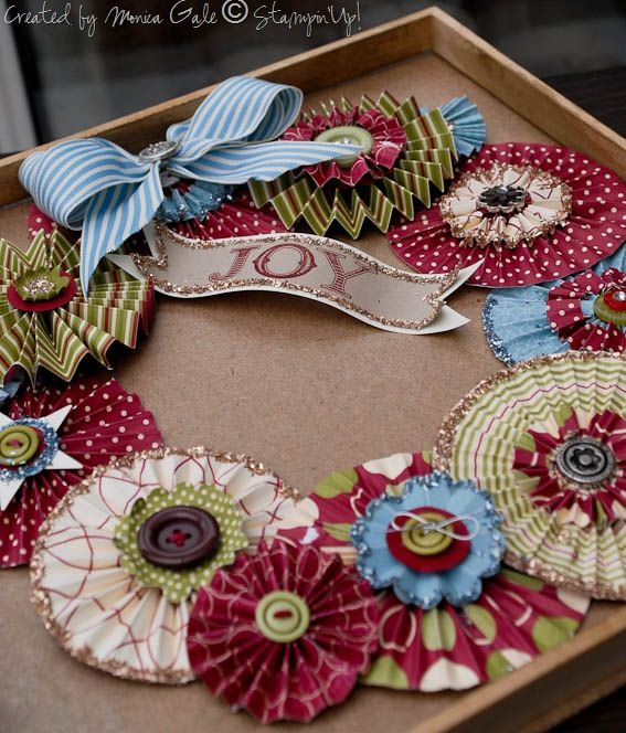 So pretty to make for the holidays and could make these for different holidays or special events. #scrapbooking #diy #crafting