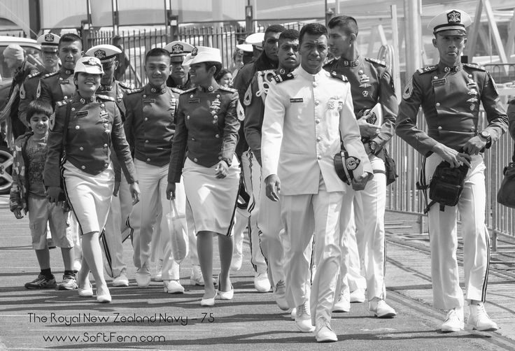 Crew from KRI Banda Aceh - Landing Platform Docks of the Indonesian Navy.        The Royal New Zealand Navy - 75 Anniversary ... 24  PHOTOS        ... Ships from Australia, Canada, Cook Islands, Chile, China, India, Indonesia, Japan, Samoa, Singapore, South Korea, Tonga, and the United States arrived to Auckland helping the Navy to celebrate its milestone.        Posted from:          http://softfern.com/NewsDtls.aspx?id=1117&catgry=7            #HMNZS Otago, #Auckland, #VOEA Pangai…