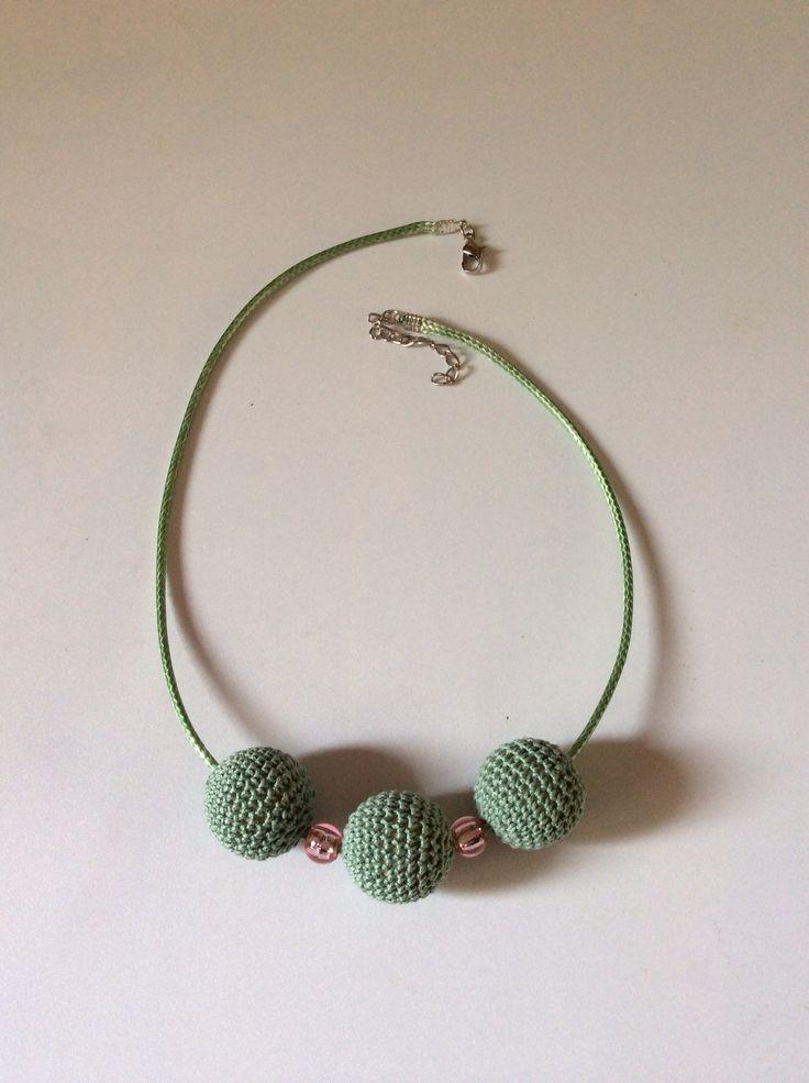 Green wooden beads