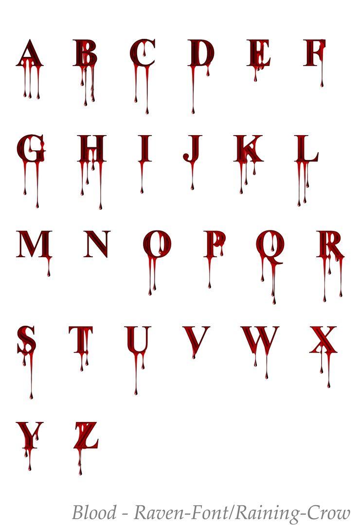 Deviantart more like stock font 1 blood by raven