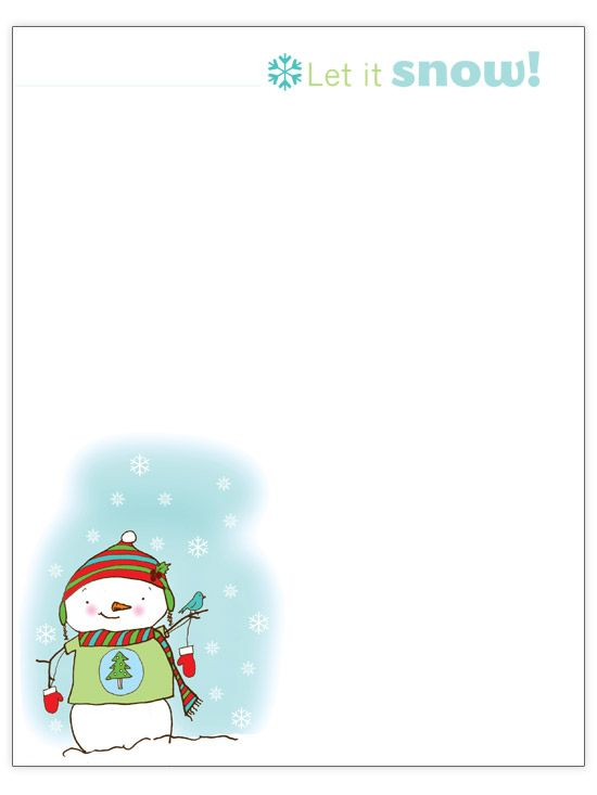 20 best Printable Winter Paper images on Pinterest Printable - microsoft word santa letter template