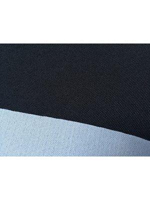 Møbelstof - sort, tykt, stivere, polyester