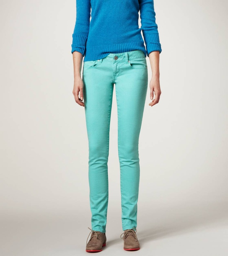We love the colored jean trend.
