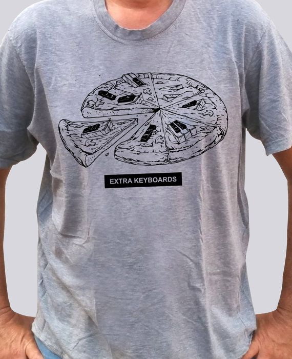 T-Shirt for Keyboard players  Extra Keyboards by NoiseTreeProject