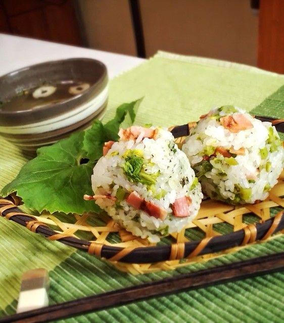 ふき」で超簡単 間違いなしの人気料理レシピセレクト - ライブドアニュース ふきのとうとベーコンのおにぎり #山菜
