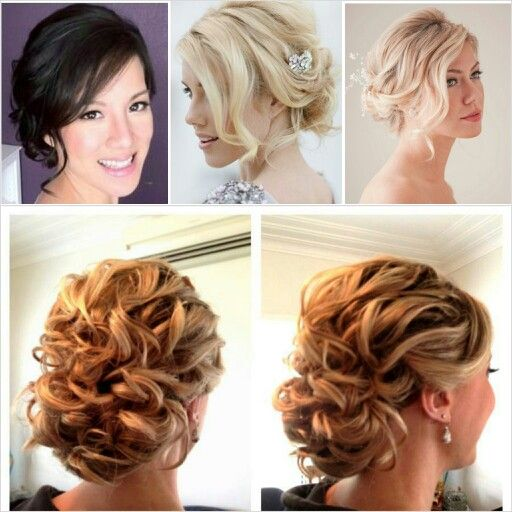 Side Swept Hairstyles For Weddings: Soft Updo With Side Swept Fringe