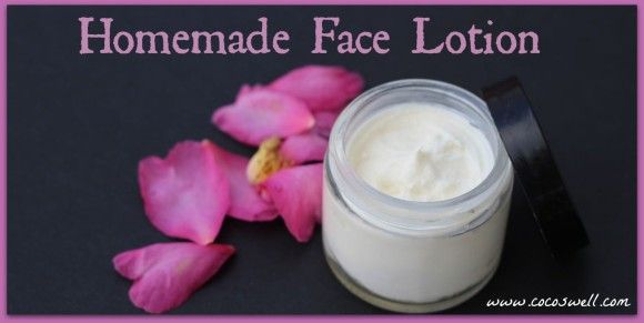 Homemade Face Lotion www.cocoswell.com