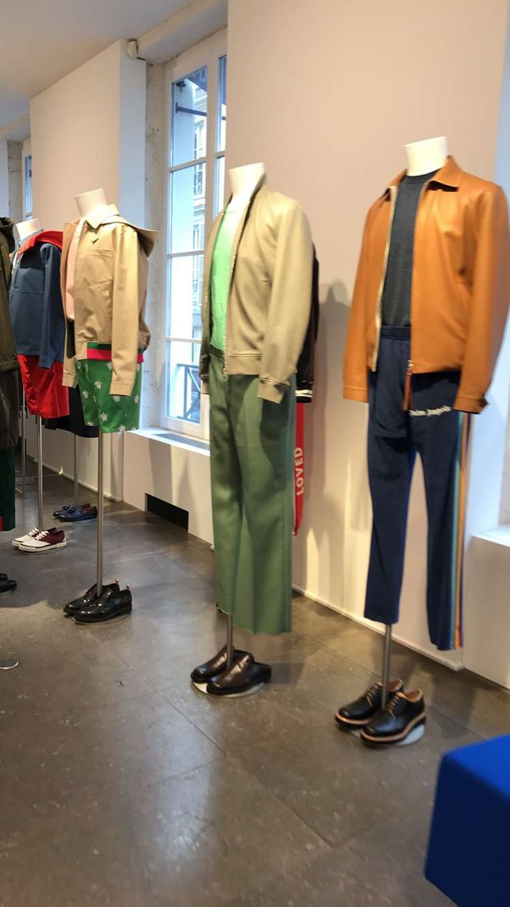 Mannequin installation menswear in Colette Paris