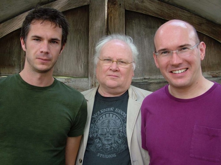 James D'Arcy (Michael) with Colin Baker (The Doctor) and Alex Macqueen (Gabriel)