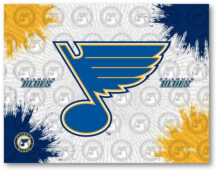 St. Louis Blues NHL D1 Printed Logo Canvas.  Visit SportsFansPlus.com for Details.