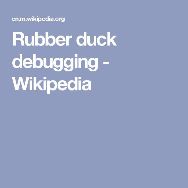 Rubber duck debugging - Wikipedia