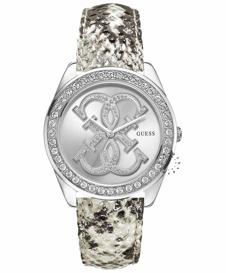 GUESS Crystal Ladies Beige Leather Strap Τιμή: 135€ http://www.oroloi.gr/product_info.php?products_id=35127