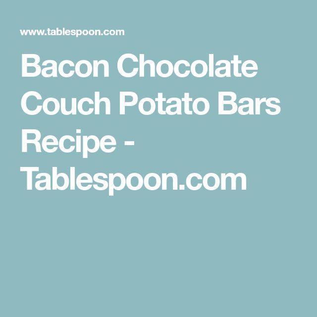 Bacon Chocolate Couch Potato Bars Recipe - Tablespoon.com