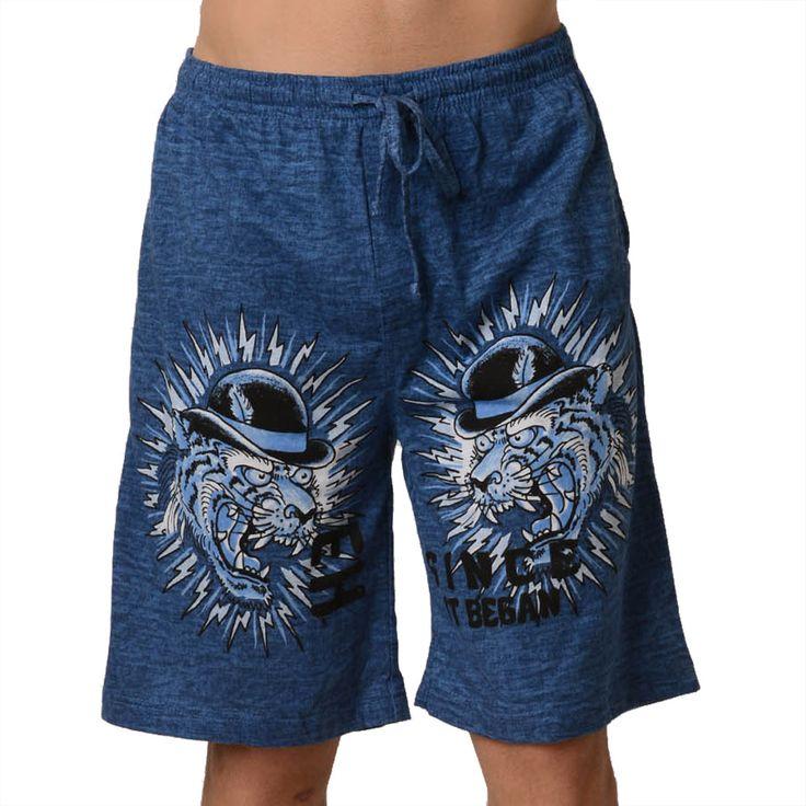 Ed Hardy Men's Top Hat Tiger Lounge Shorts – Heavy Sky