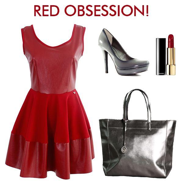 Red obsession! Preparati a sfoggiare il rosso, shop now! Abito > http://bit.ly/1z6m6RP Borsa > http://bit.ly/1tyHNKq