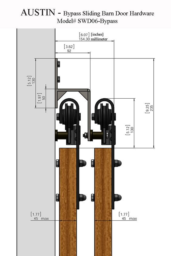 Our rustic style AUSTIN bypass sliding barn door hardware will captivate all those who step foot into your home. Description from luxurymodernhome.com. I searched for this on bing.com/images