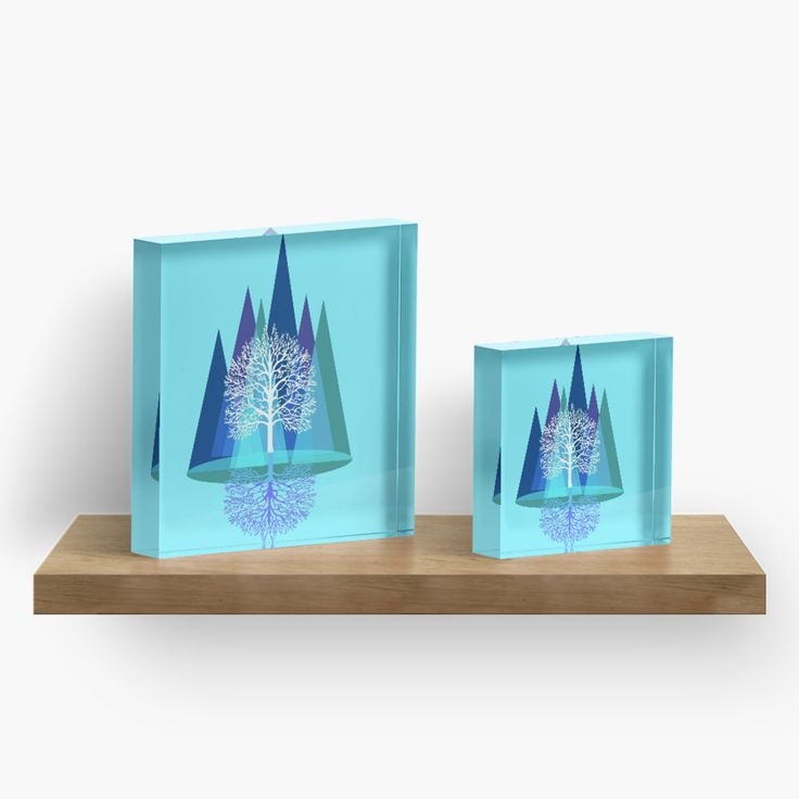 Outdoors-y things on the brand new Acrylic Block.   The fanciest thing to ever fancy.
