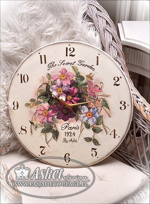 The clock large flowers clematis