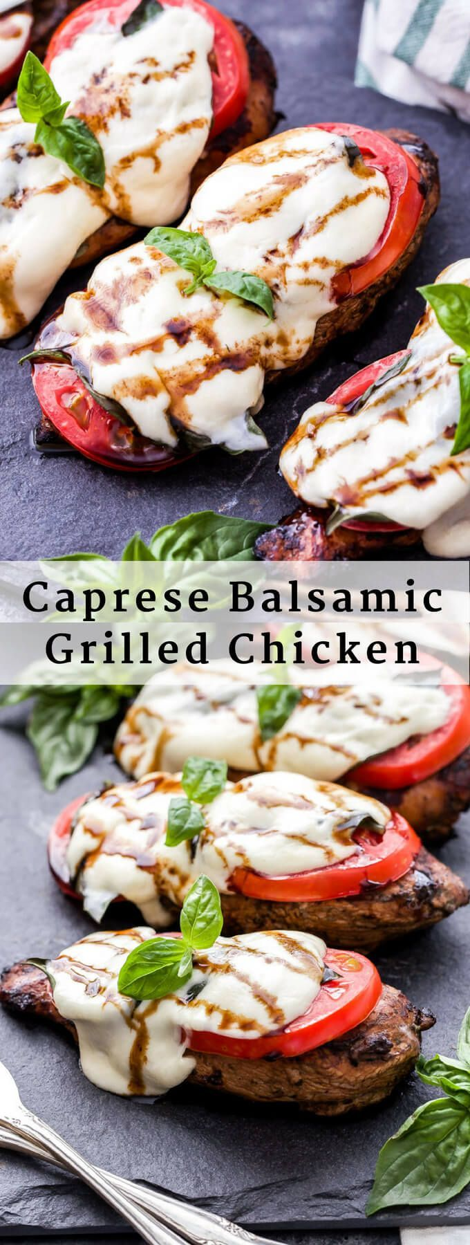 Caprese Balsamic Grilled Chicken is an easy and healthy dinner that's perfect fo…