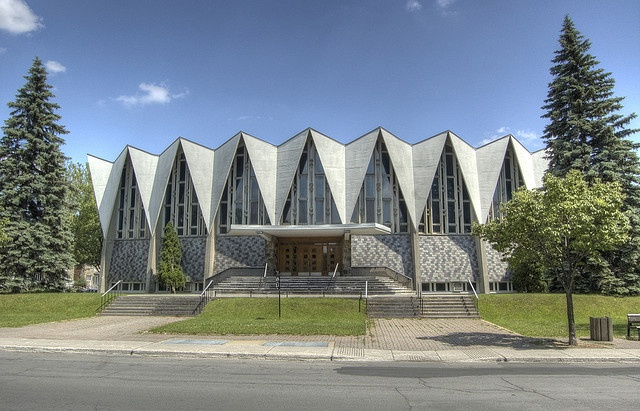 folded plate roof church, Hawaii