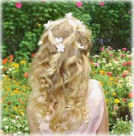 Classy hairstyle for a little girl. Holidays, flower girl, dressy occasion...